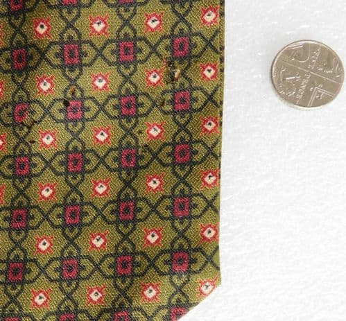 Sammy green Tricel cravat vintage 1950s 1960s English mens casual wear IMPERFECT